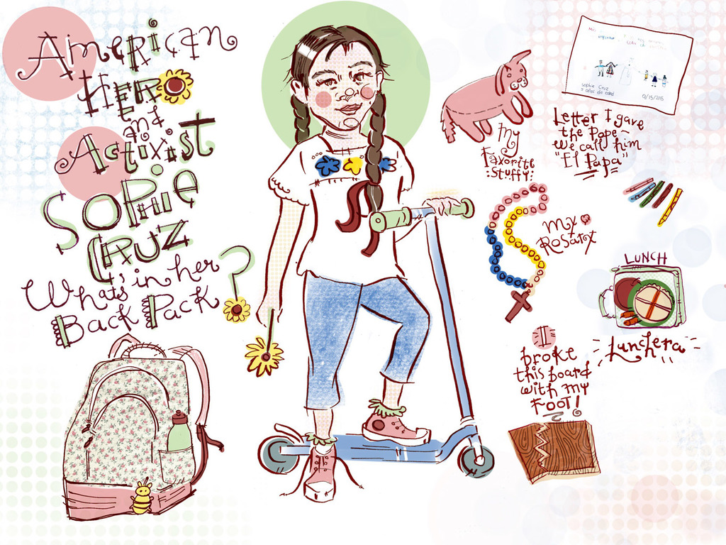 """9d2d057fe Sophie's also a regular California kid who does Tae Kwon do, rides a  scooter, and makes tortillas with her father. """"My friends and I love each  other no ..."""