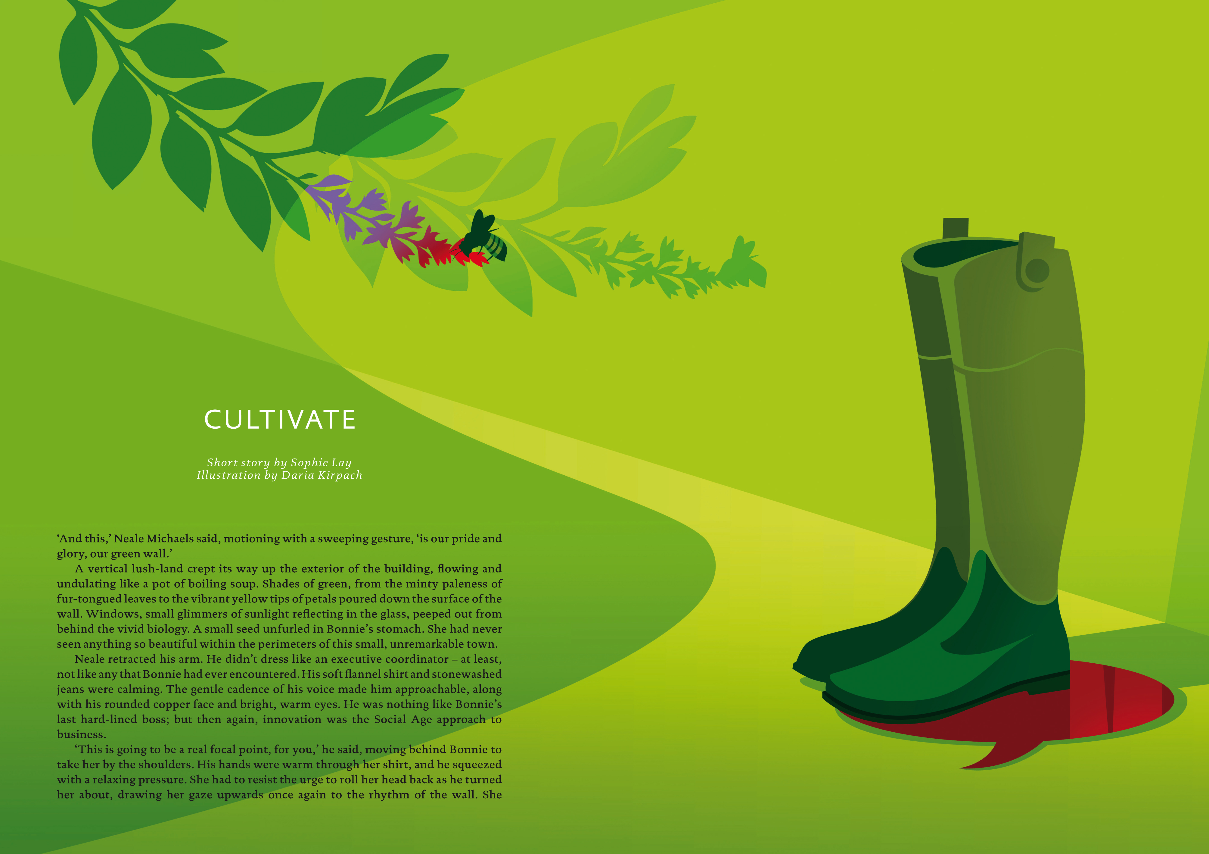 Daria Kirpach Illustration: Hypocricy in the Green Economy