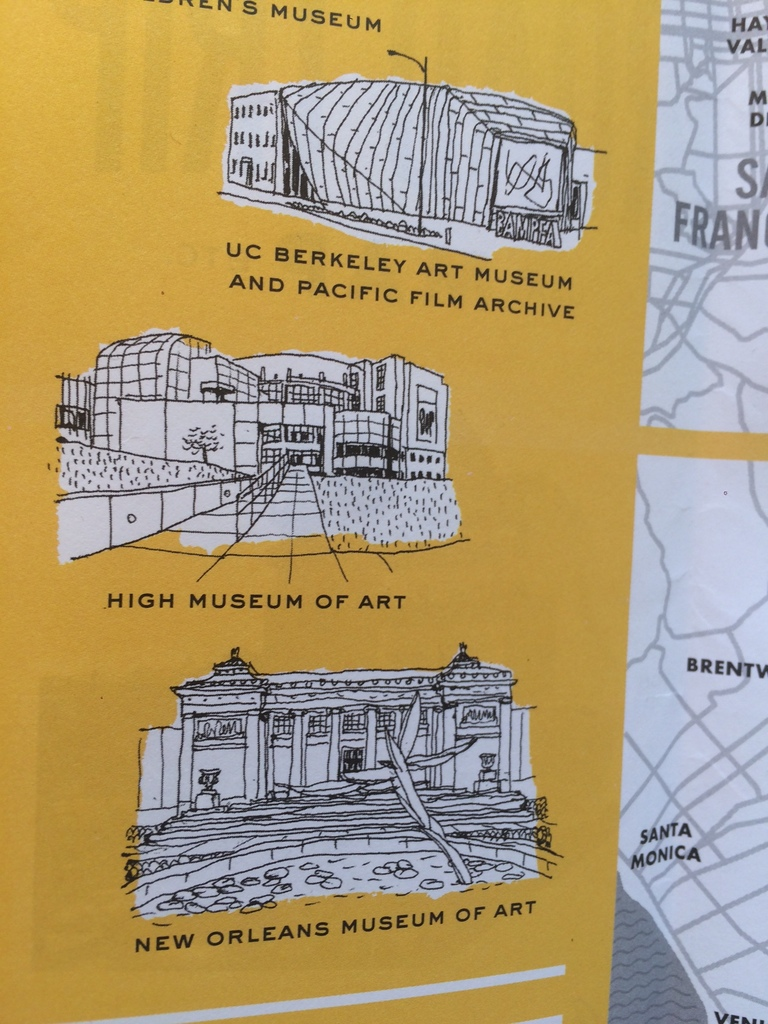 Eric Hanson's Illustrated Map of Museums on